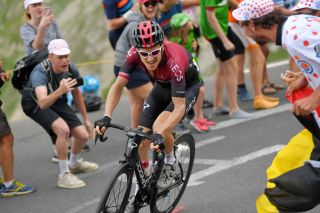 Geraint Thomas (Team Ineos) pushes the pace on stage 18 of the 2019 Tour de France