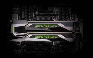 An Nvidia GeForce GTX graphics card.