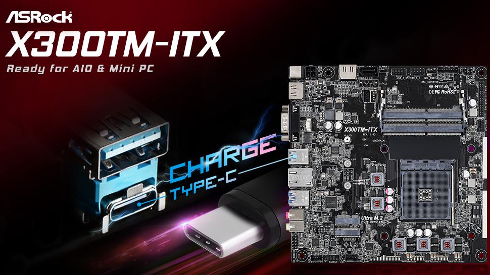 ASRock's AMD X300TM Thin Mini-ITX New Motherboard Has USB-C & COM Ports