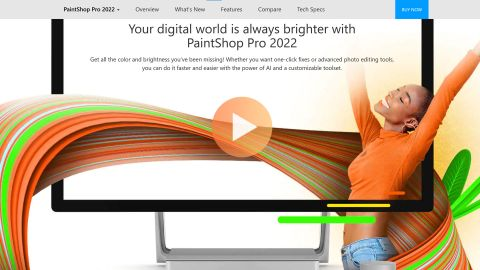 Corel Paintshop Pro 2022 review: Image shows the Corel Paintshop Pro website