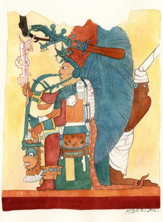 The Mayan King found on the Xultun murals.