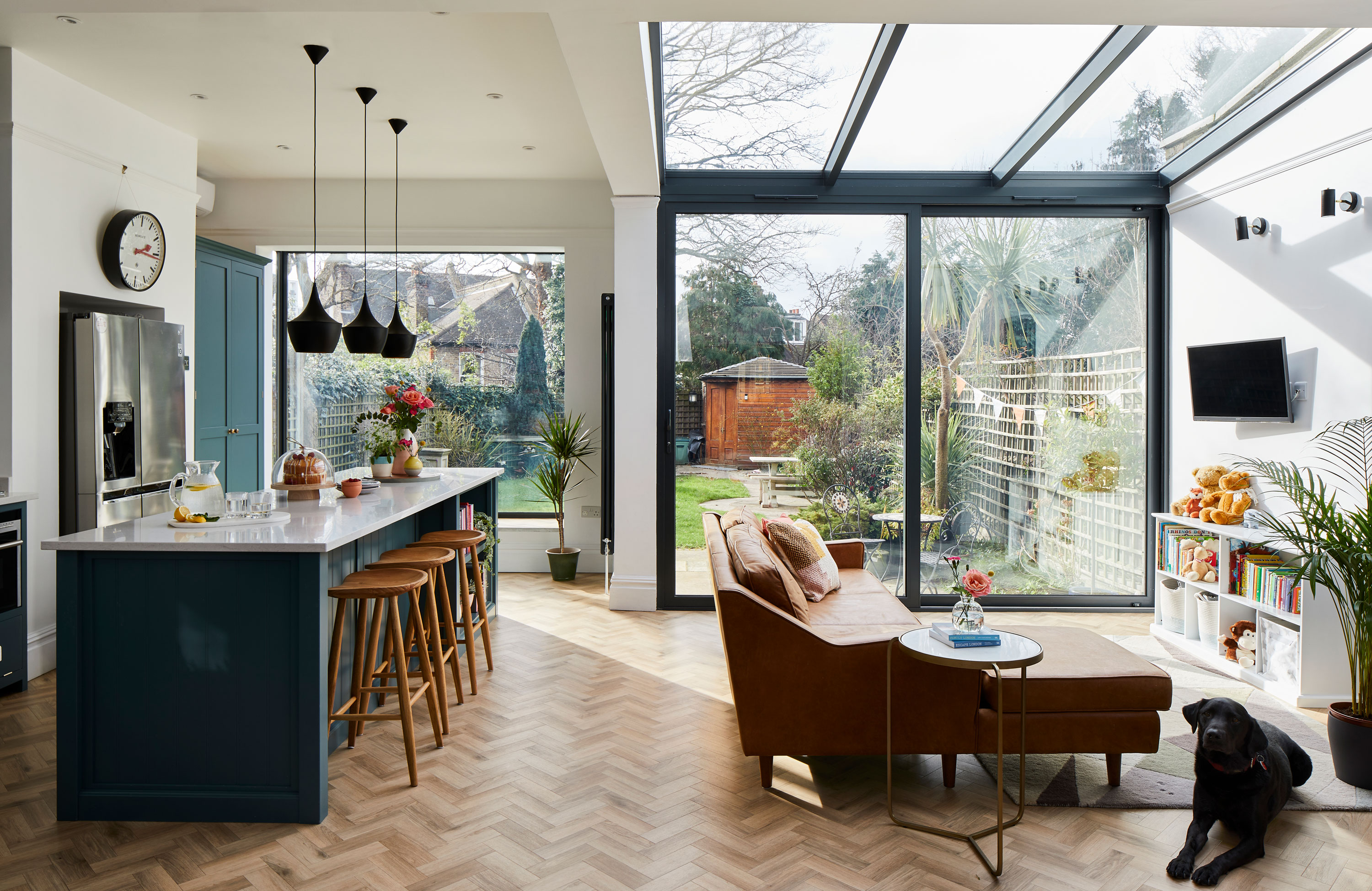 Real Home Striking Glazing Transforms This Edwardian House S Kitchen Diner Real Homes