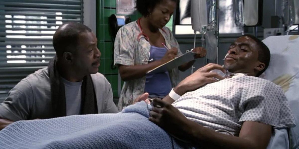 Carl Weathers and Chadwick Boseman on ER