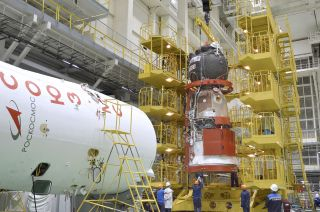 Russia's Soyuz MS-18 spacecraft and its fairing will be adorned with markings for the 60th anniversary of human spaceflight.