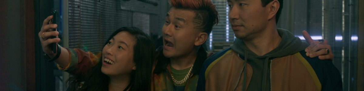 Ronny Chieng with Awkwafina and Simu Liu in Shang-Chi And the Legend of The Ten Rings
