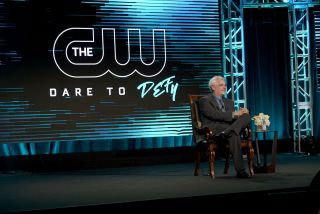 The CW President Mark Pedowitz at the network's 2019 TCA winter press tour presentation.