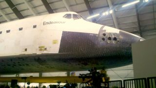 Endeavour's Nose Inside California Science Center