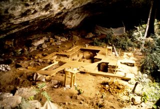 The rock shelter at Shum Laka in Cameroon. Surprisingly, the ancient people who lived at this rock shelter are not related to the people in the region today.