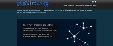 screenshot of Electrum Wallet