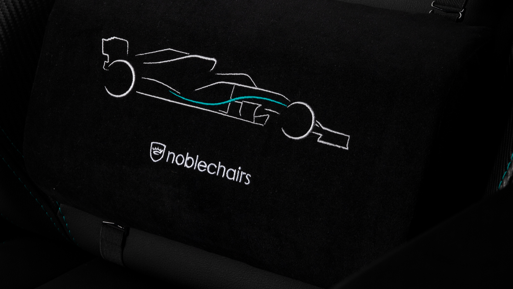 Noblechairs Mercedes-AMD Petronas F1 Team gaming chair from various angles