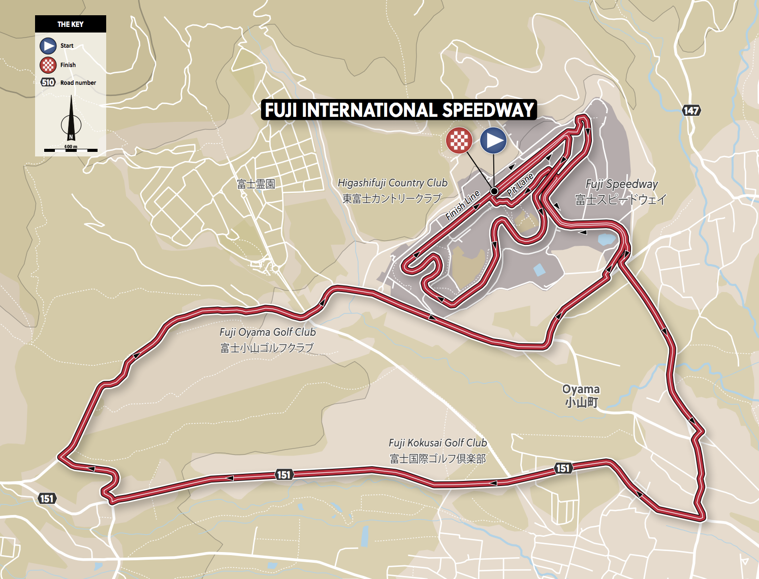 Tokyo Olympic Games Women's Time Trial - Map