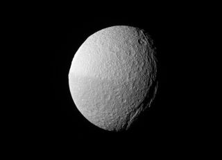 Cassini View of Saturn Moon Tethys