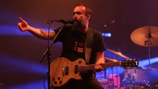 Neil Fallon performing live with Clutch