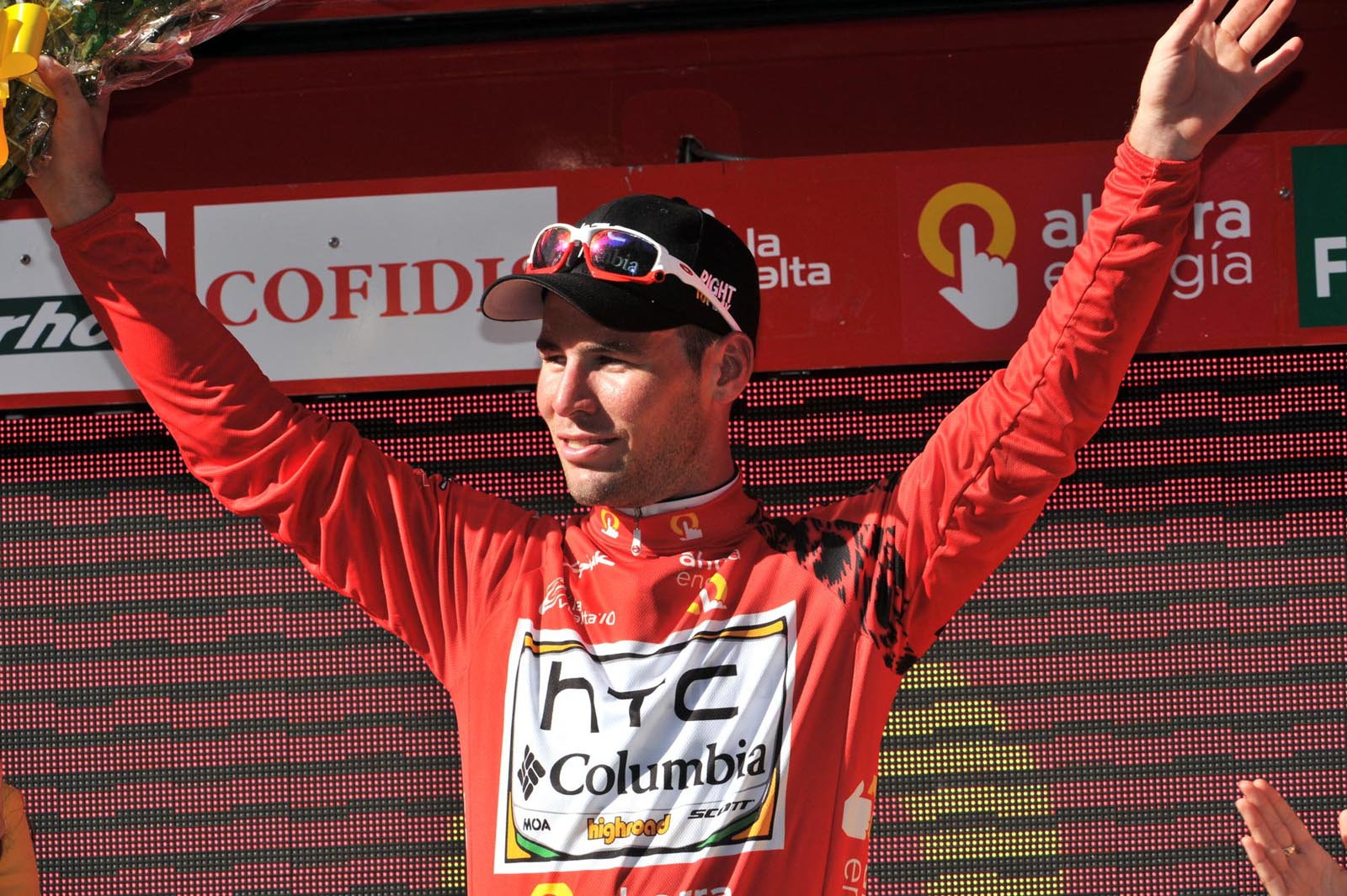 Mark Cavendish, race leader, Vuelta a Espana 2010, stage two