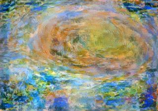 Citizen scientist David Englund created this impressionist-style artwork using data from the JunoCam imager on NASA's Juno spacecraft. The original image was taken on July 10, 2017 at 10:12 p.m. EDT (0212 GMT July 11), as the Juno spacecraft performed its