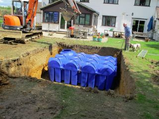 Water system from Rainwater Harvesting