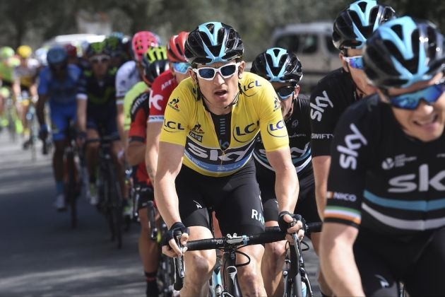 Geraint Thomas on stage seven of the 2016 Paris-Nice