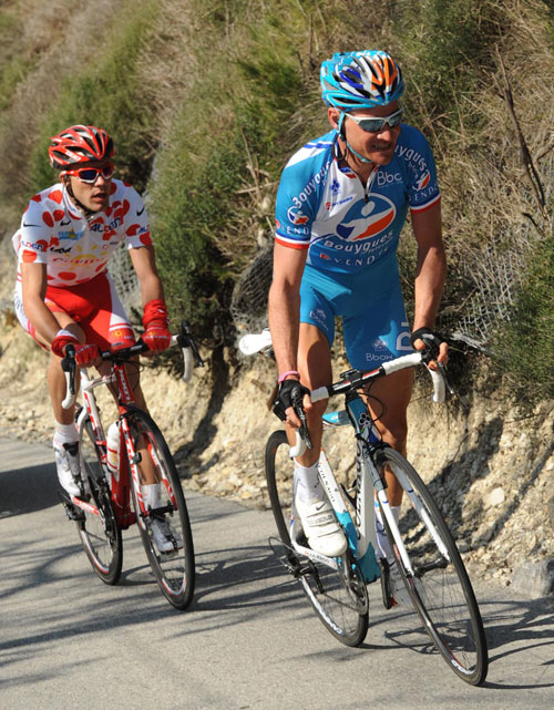 Thomas Voeckler and Amael Moinard, Paris-Nice 2010, stage seven