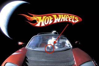 spacex musk tesla roadster hot wheels
