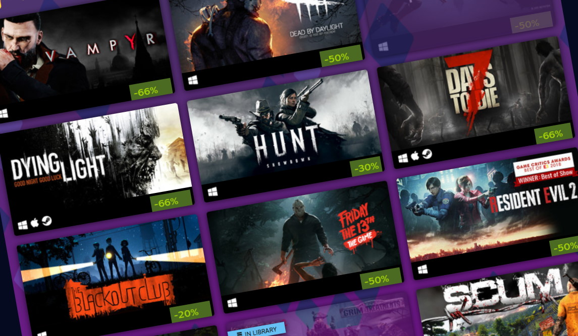 The Steam Halloween Sale begins with the Steam store going down | PC Gamer
