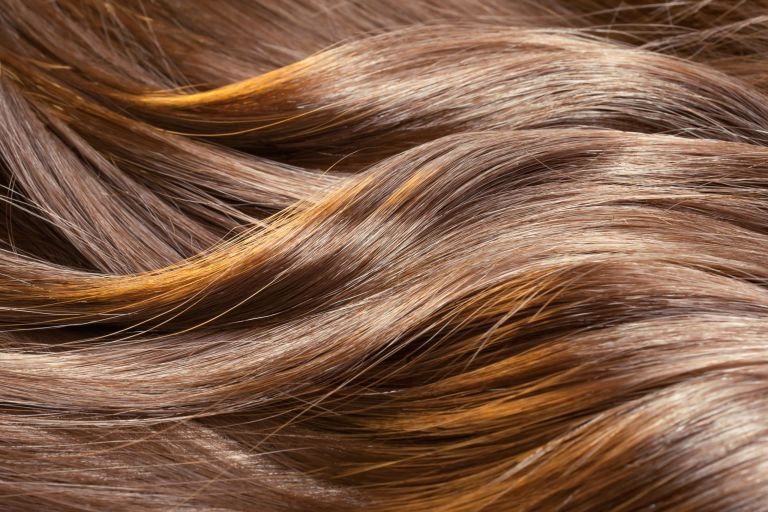 Beautiful healthy shiny hair texture