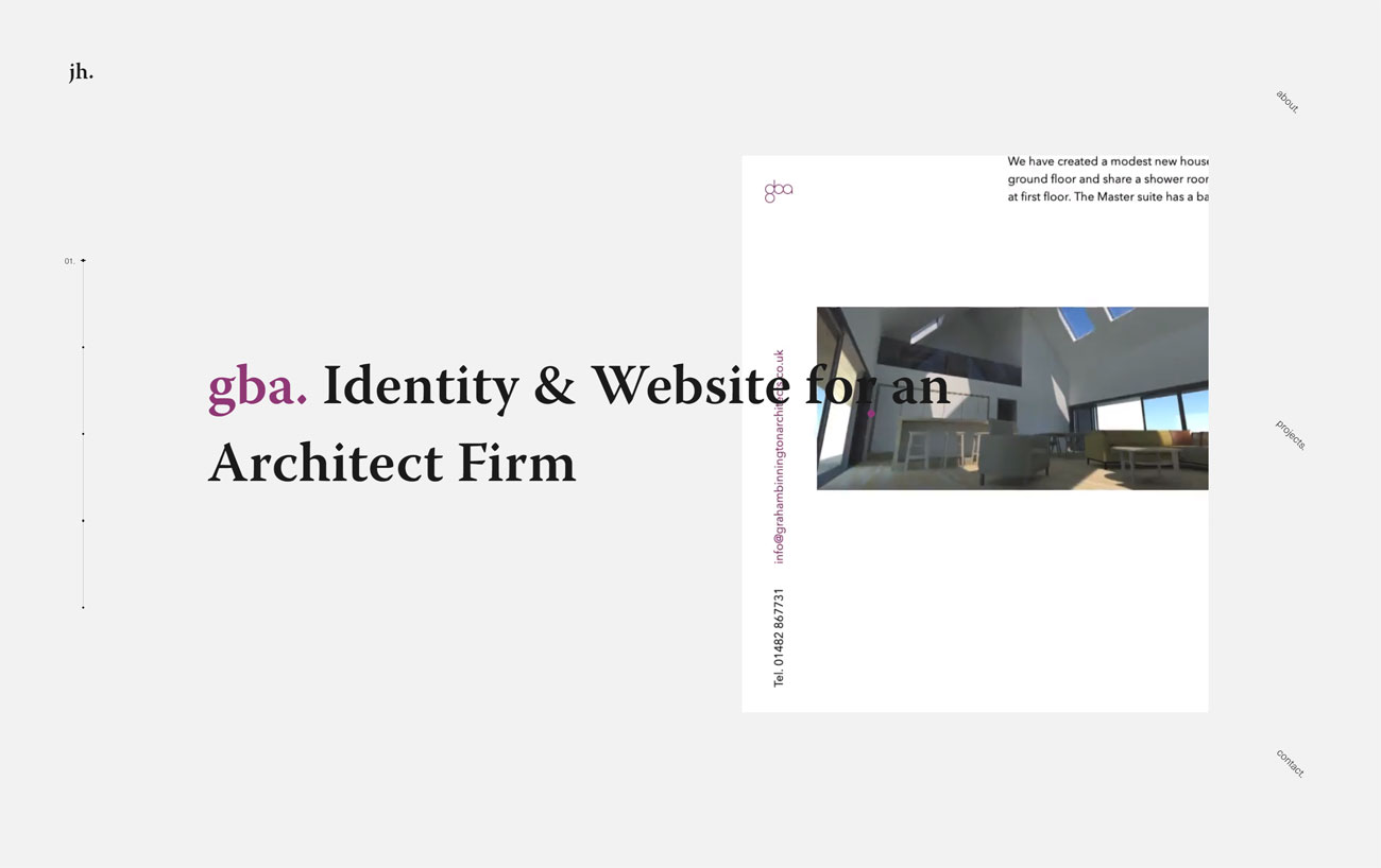 6 of the best new portfolio sites: Jamie Hunter