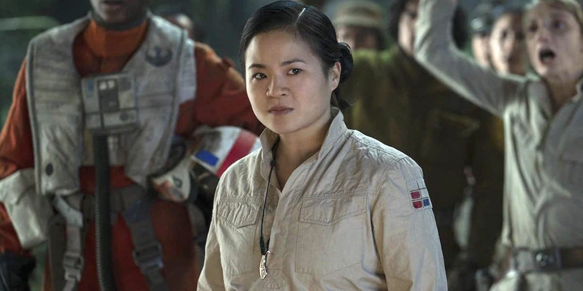 Star Wars: The Rise of Skywalker Rose Tico stands in defiance