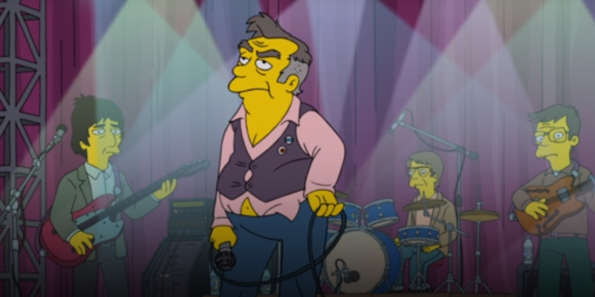 benedict cumberbatch's willoughby on stage on the simpsons