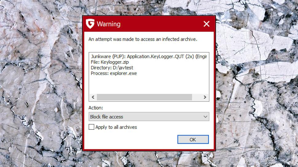 Antivirus Alert Infected File