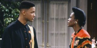 Will Smith as himself and Janet Hubert as Vivian Banks on The Fresh Prince of Bel-Air (1990)