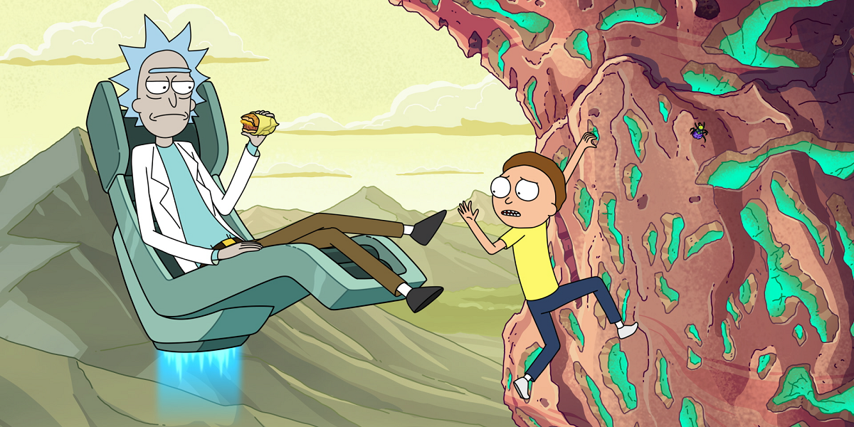 Rick and Morty in one of their adventures in Rick and Morty.