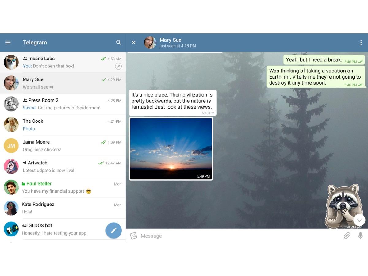 best chat apps: Telegram