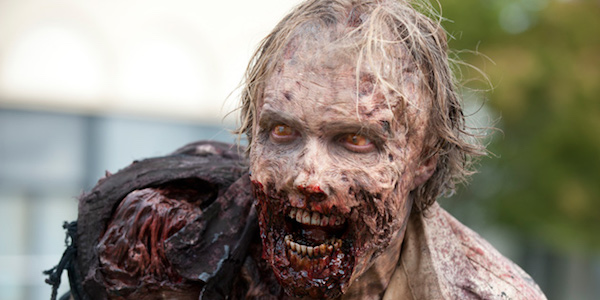 A zombie in The Walking Dead
