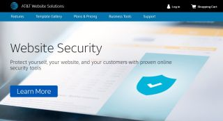 AT&T web hosting homepage