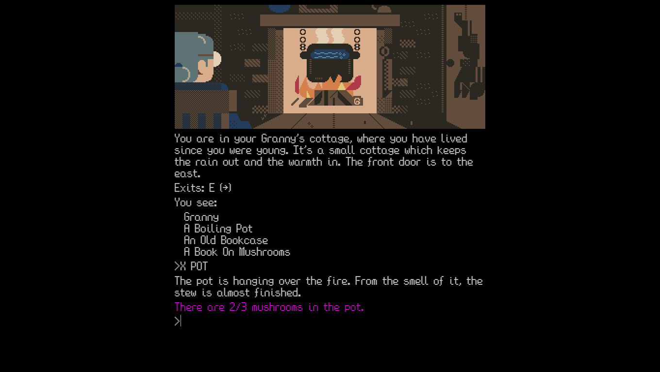 Go foraging in lovely free text adventure Mushroom Hunt | PC Gamer