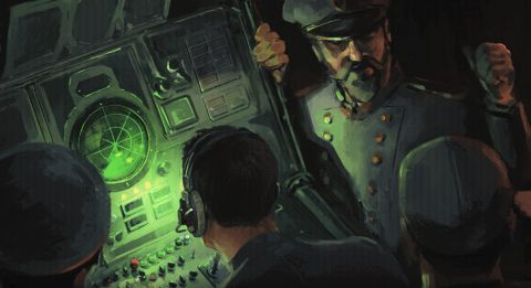 Highfleet's crew checking the radar