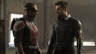 Anthony Mackie as Falcon and Sebastian Stan as Winter Soldier in Disney Plus's 'The Falcon and the Winter Soldier'