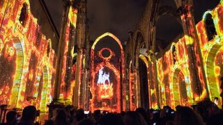 "Event design firm OCUBO drove ""LISBON UNDER STARS,"" an immersive multimedia spectacle in Lisbon, Portugal using AV Stumpfl's Pixera servers."
