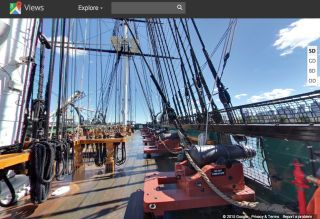 USS Constitution on Google Maps Street View
