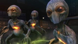 An image of grey sectoid aliens from XCOM: Enemy Unknown