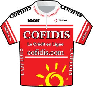 Cofidis jersey Tour de France 2010