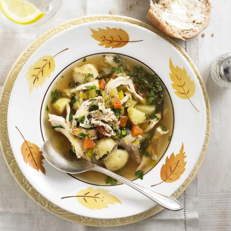Roast chicken soup recipe-chicken recipes-recipe ideas-new recipes-woman and home