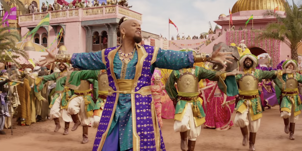 Will Smith as Genie in live-action Aladdin during Prince Ali song