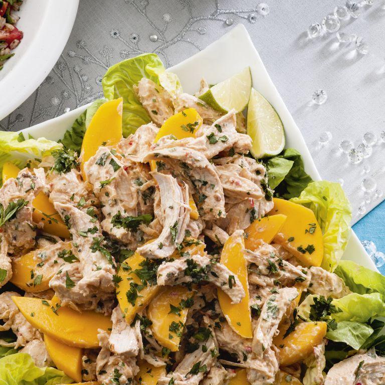 Spiced chicken and mango salad recipe