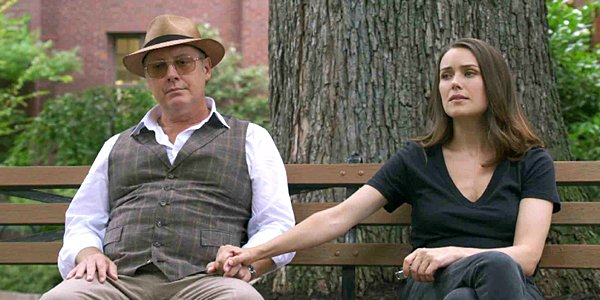 James Spader as Red and Megan Boone as Liz on The Blacklist NBC