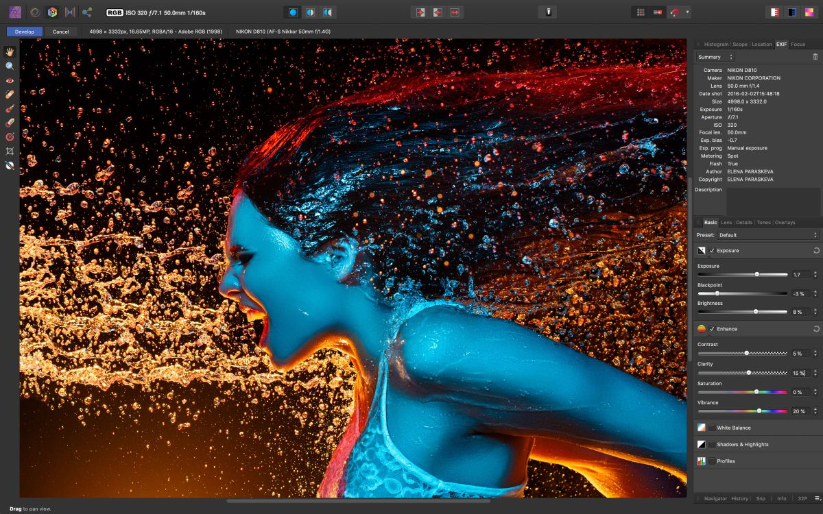 Affinity Photo 1 7 is here, with more speed, more power, more