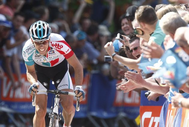Philippe Gilbert attacks, Fleche Wallonne 2011