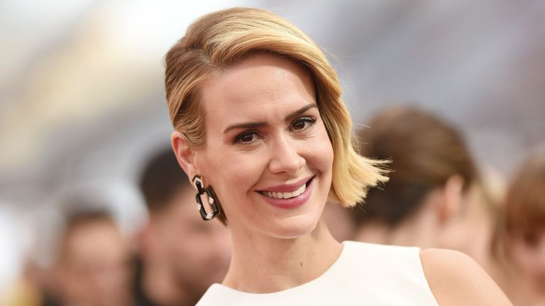 American horror story double feature, Actress Sarah Paulson arrives at the 21st Annual Screen Actors Guild Awards at The Shrine Auditorium