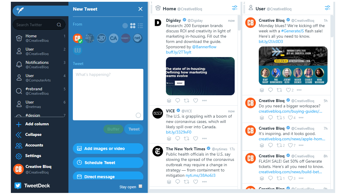 Social media schedulers: TweetDeck