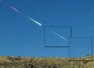 A composite image showing how the Sutter's Mill meteorite fell in California in April 2012. In 2020, researchers uncovered evidence of what is most likely the earliest recorded incident of a person being hit and killed by a meteorite in what is now Sulaymaniyah, Iraq, on Aug. 22, 1888.